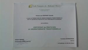 certificat aroma