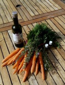 carottes et romarin