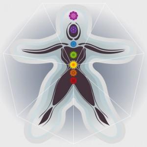 7 Chakras avec Mandalas Corps Fminin, Aura et Heptagone